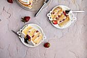 Strawberry fault line cake