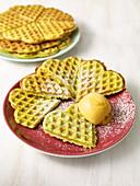 Broccoli waffles