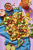 Mexican oven nachos with cheese and jalapenos