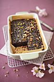 Veganer Brownie mit Dinkelmehl, Kokosöl und Zimt