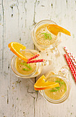 Fennel smoothie with banana and orange