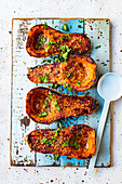 Barbecued butternut squash