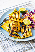 Barbecued ginger tofu