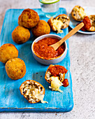 Arancini di riso with cheese