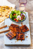 Barbecued spiced tofu