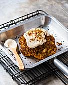 Roast cauliflower with hummus