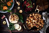 Swedish vegetable Christmas dinner