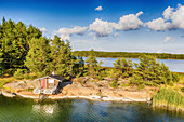 Wooden cabins on the Archipelago Sea, Finland