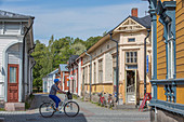 Historic wooden houses in the old town of Rauma (UNESCO World Heritage Site), Finland