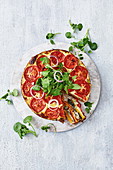 Layered vegetable pie with ricotta