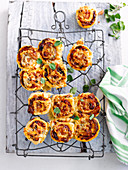 Olive and Bacon Pizza Scrolls