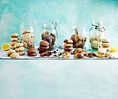 Verschiedene glutenfreie Cookies