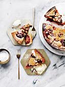 Cinnamon Plum Crumble Cake