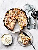 Apple and Spiced Frangipane Fillo Cake