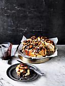 Chocolate, Hazelnut and Pear Scrolls
