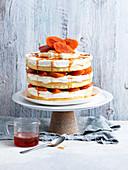 Naked Orange and Nectarine Cake