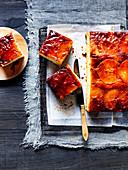 Miso Caramel Apple Upside -Down Cake