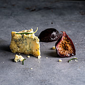 Stilton cheese with figs