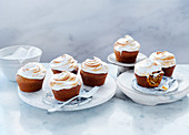 Spiced Pumpkin Cakes with Burnt Marshmallow Frosting