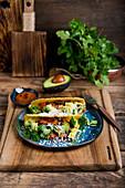 Taco with veggies