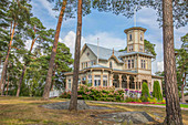 A historic villa at the harbour of Poroholman, west coast of Finland