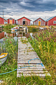Fishing houses on the Archipelago Sea, UNESCO World Heritage Site, west coast of Finland