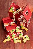 Christmas dachshund cookies