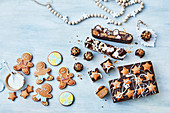 Three Gingerbread ideas - Gingerbread figurs, Gingerbread Choc-Caramel Slice, Gingerbread Rocky Road
