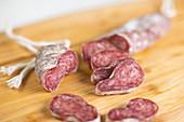 Fuet - traditional pork cut in Catalunya (Spain)
