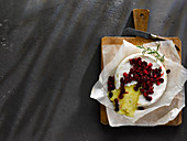 Baked Brie with roasted cranberries