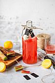 Sweet rhubarb syrup