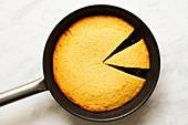 Cornbread in a pan