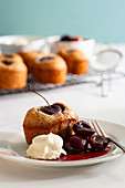 Cherry Friand with Poached Cherries