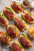 Duck Crostini with Citrus Relish