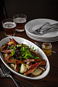 Geräucherter Aal mit Kartoffelsalat
