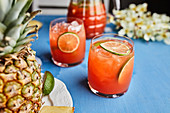 Pineapple hibiscus mocktail