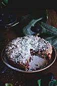 Pflaumen-Streusel-Kuchen mit Puderzucker