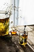 Winter tea with honey