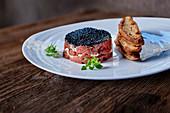 Beef tartare with caviar