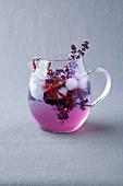 Purple flower fennel iced tea