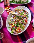 Tomato salad with tuna
