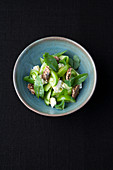 Green tomato salad with sorrel and goat's cheese