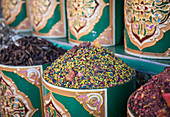 Spices in a market in Marrakesh, Morocco