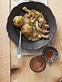 Oriental dumplings with gyros