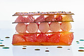 Mille Feuille with grapefruit