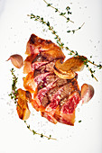 Tagliata Di Manzo with porcini mushrooms, garlic and thyme