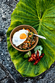Nasi goreng with a fried egg