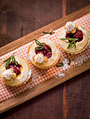 Pasticciotti with rosemary, polenta and cherries (Italy)