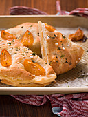 Sweet focaccia with apricots (Italy)