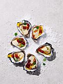 Austern mit Granatapfel-Dressing